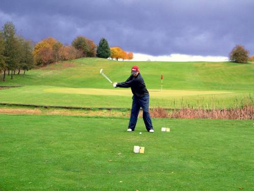 We play golf, rain or shine