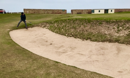 Greenside bunker at the 3rd