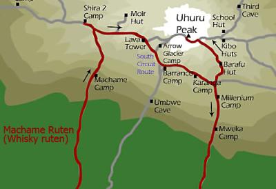 Machame route, fjelltur på Kilimanjaro