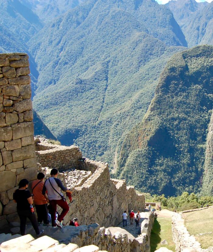 Machu Picchu -pågang av turister