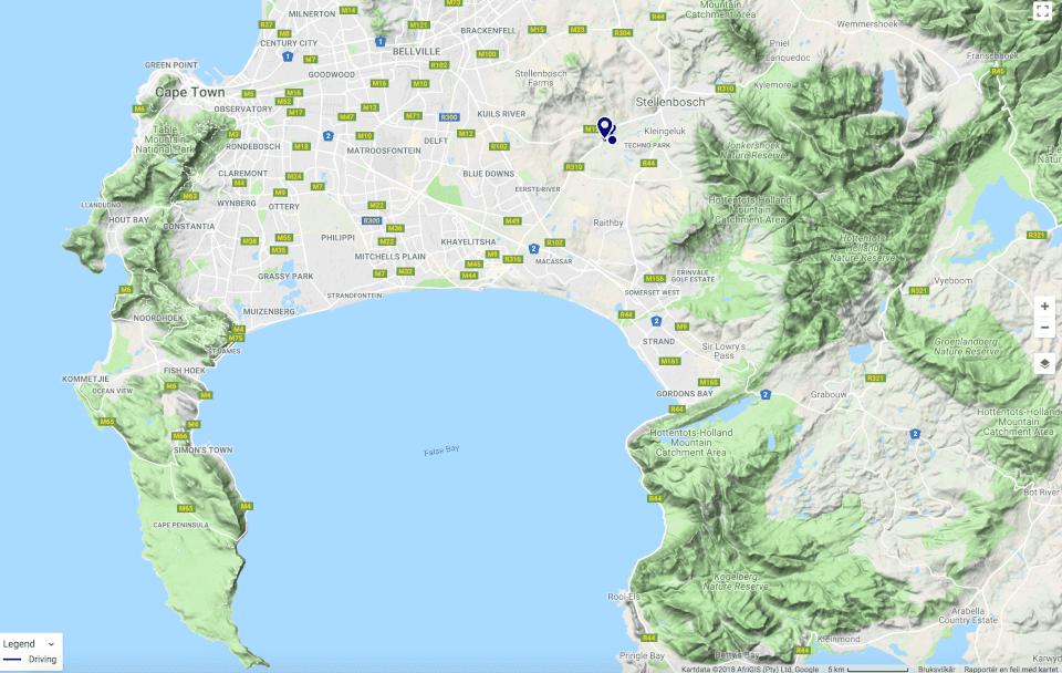 Map, Stellenboch, vinsmaking på vingårder