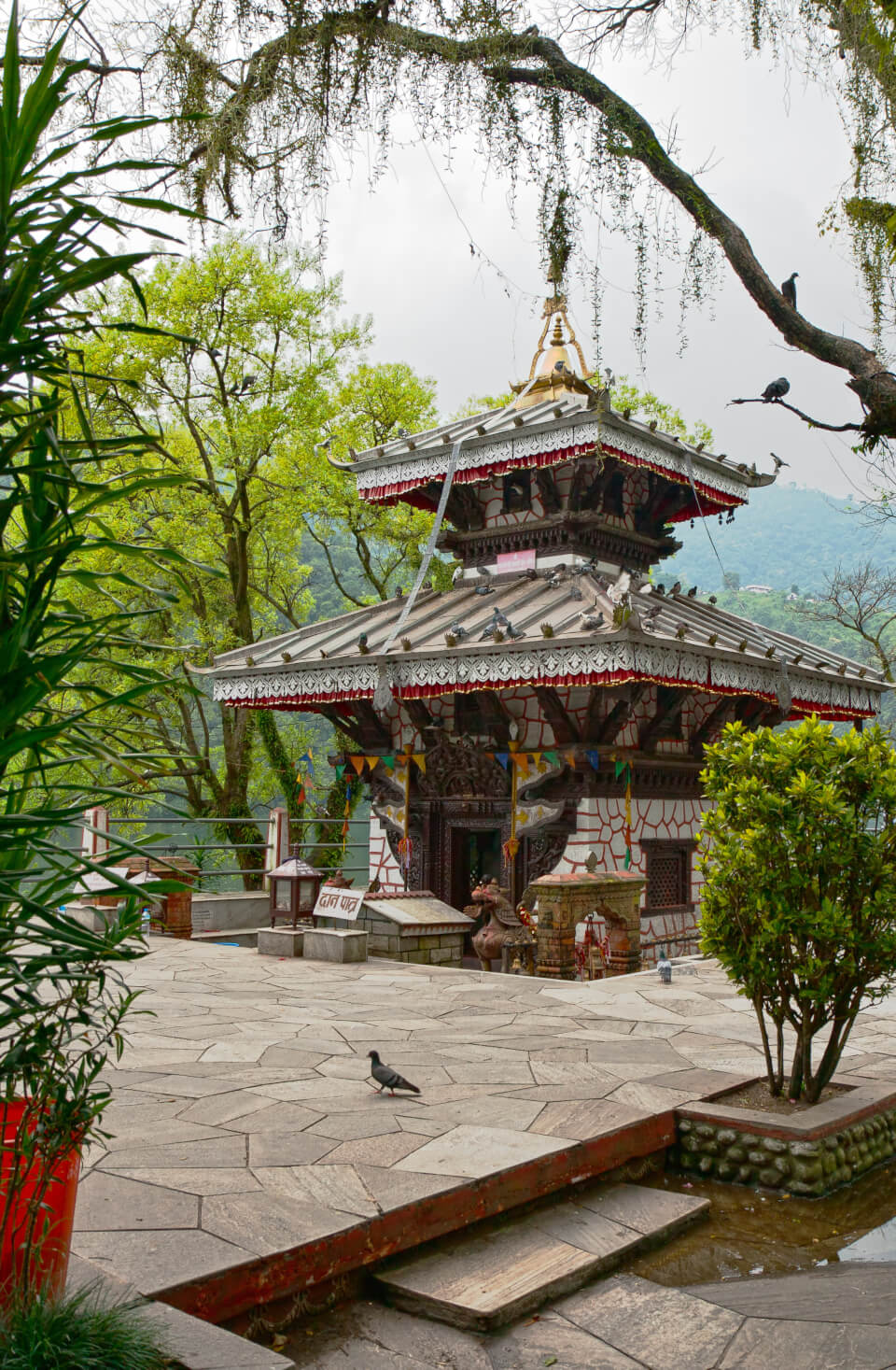 Temple in Phewa Lake