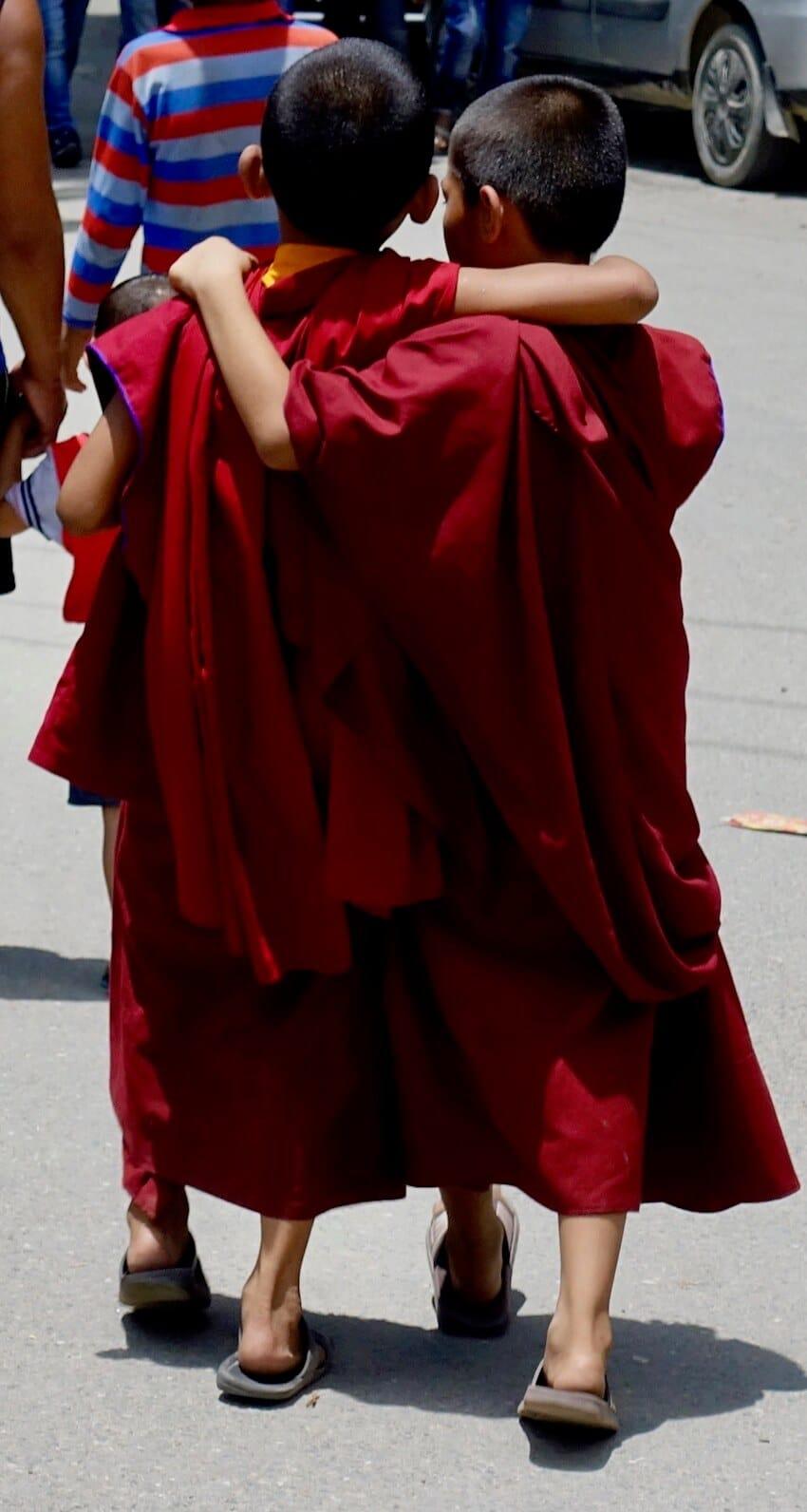 Nepals befolkning. Unge tibetanske munker.