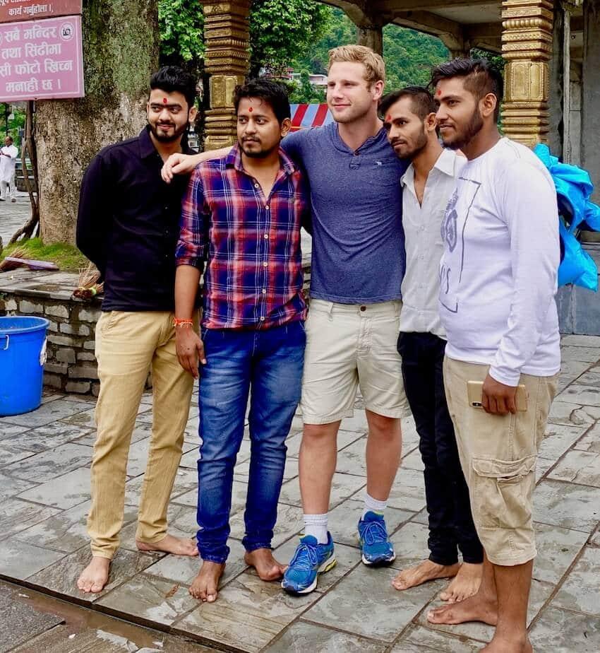 Møte nye venner i Nepal