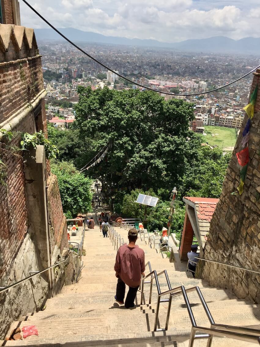Swoyambhunath stupaen, Kathmandu i Nepal