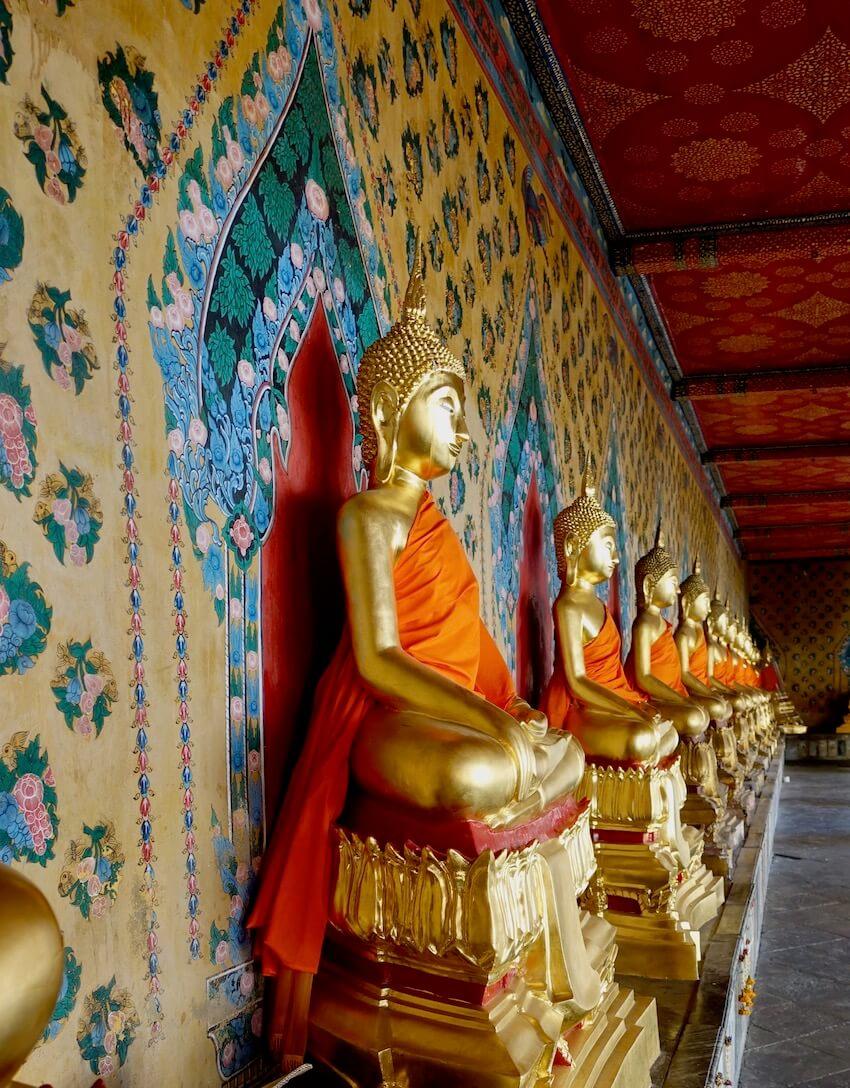Buddha, Wat Arun. Attraksjoner i Bangkok