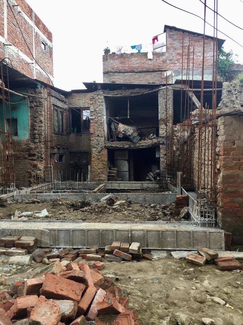 Bugamati. Jordskjelvet i Nepal 2015.