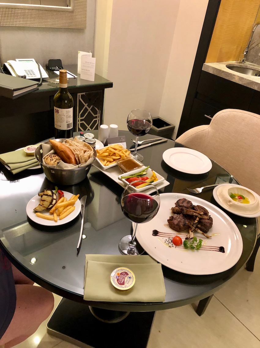In room dinner