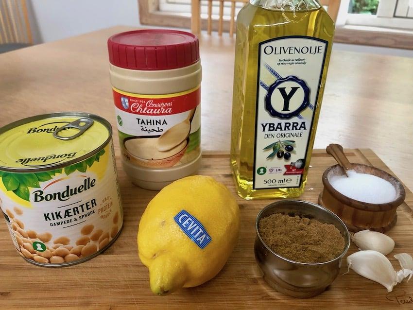 Ingredienser til Hummus