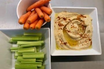 Hummus med grønnsaker