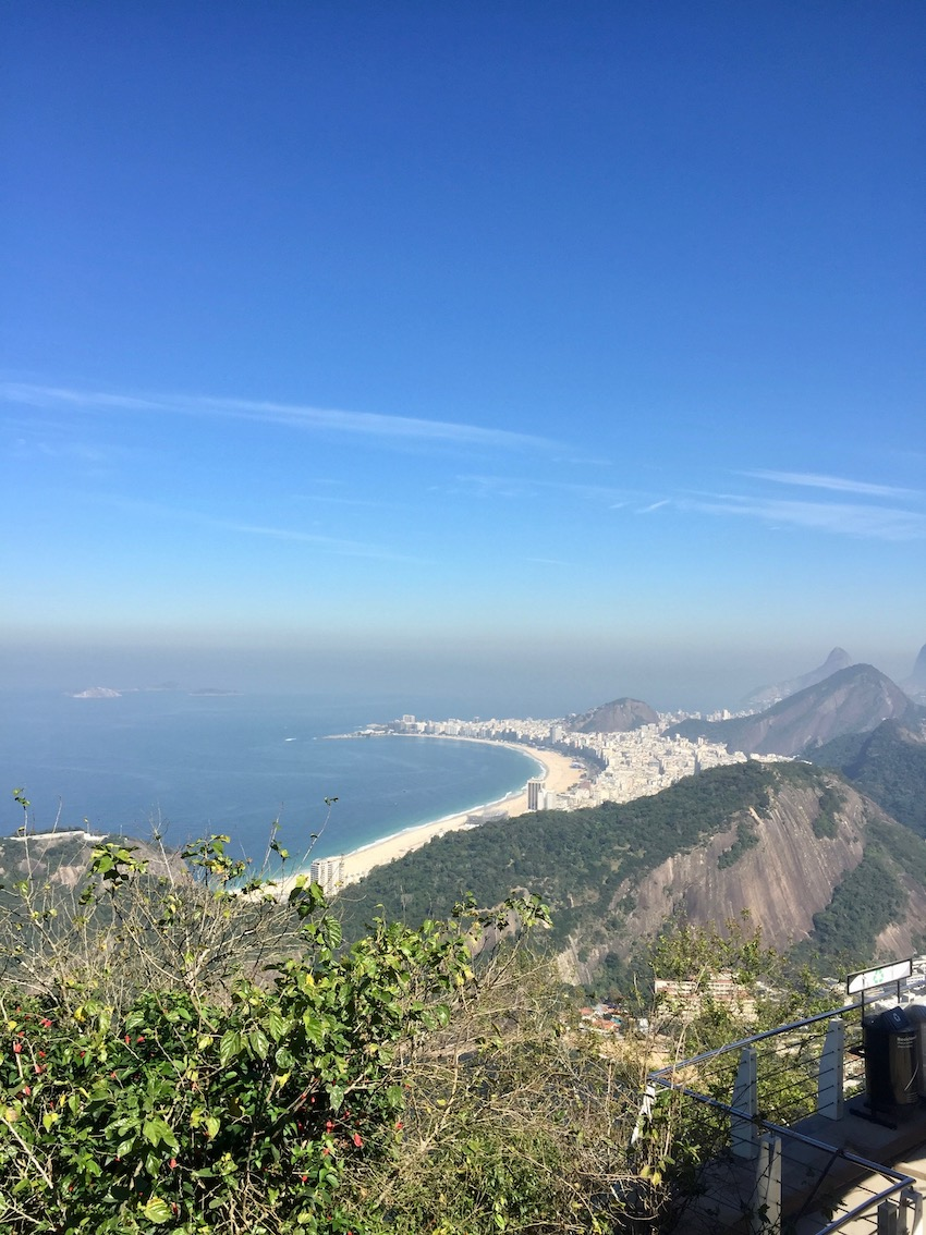 Utsikt mot Copacabana beach, Sukkertoppen