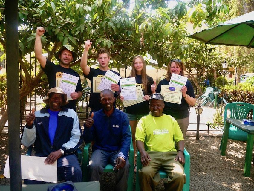 Guidene som fikk oss på toppen av Kilimanjaro, Uhuru peak