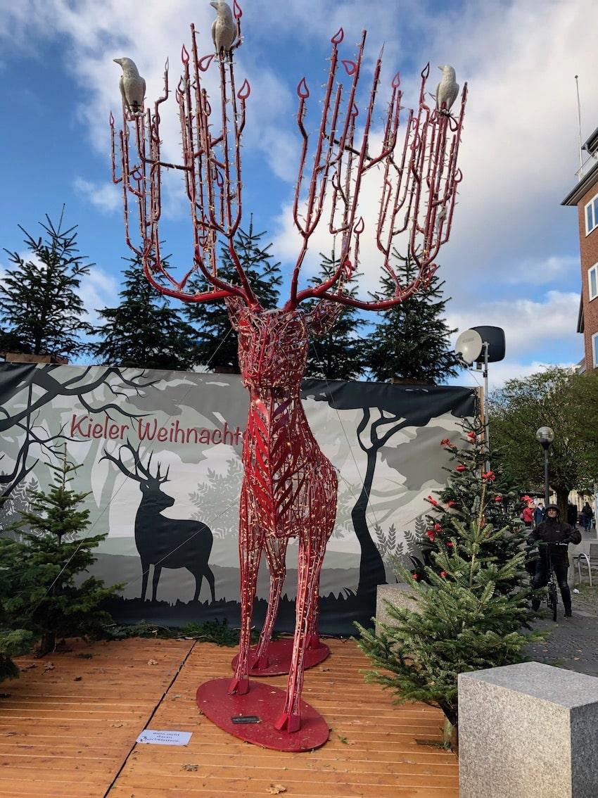 Selfiplace på julemarked i Kiel