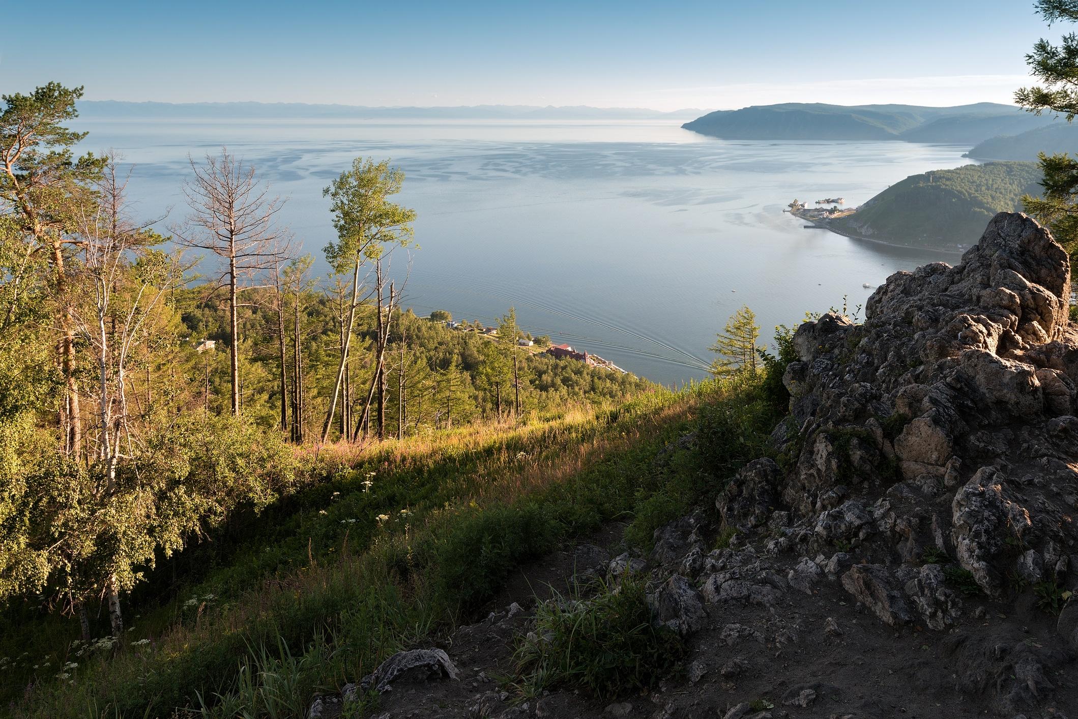 Utsikt over Bajkalsjøen