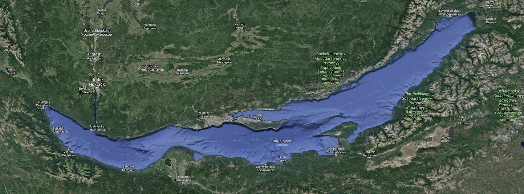 Bajkalsjøen, verdens dypeste innsjø / Lake Baikal