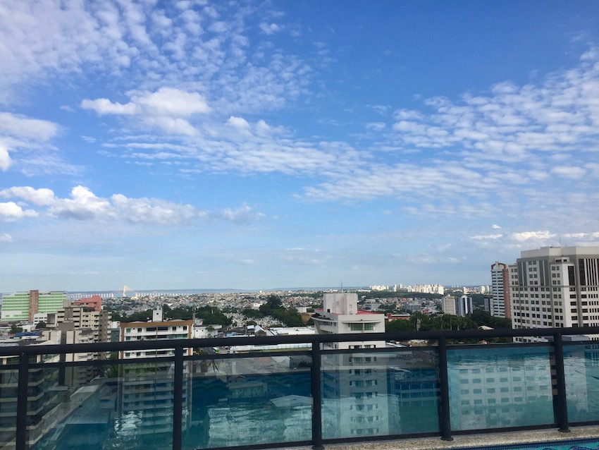 Hotelltips! Utsikt fra taker på Intercity Manaus, Reiseguide til Sør-Amerika