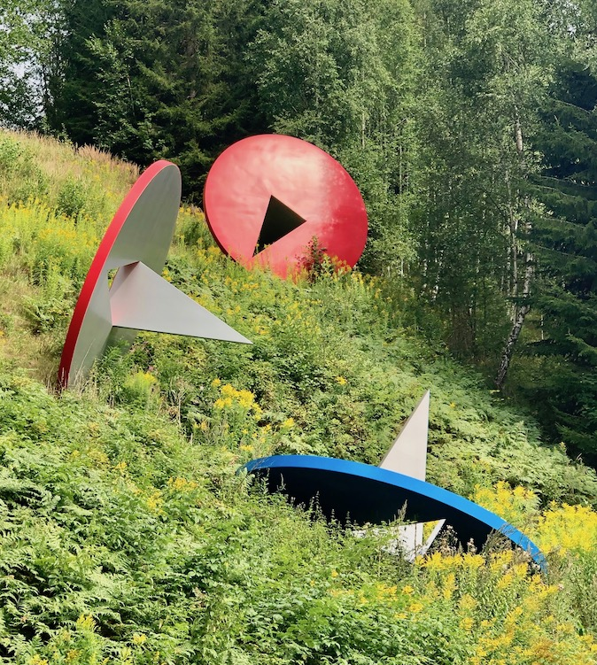 Skulturer ved Kistefos skulpturpark
