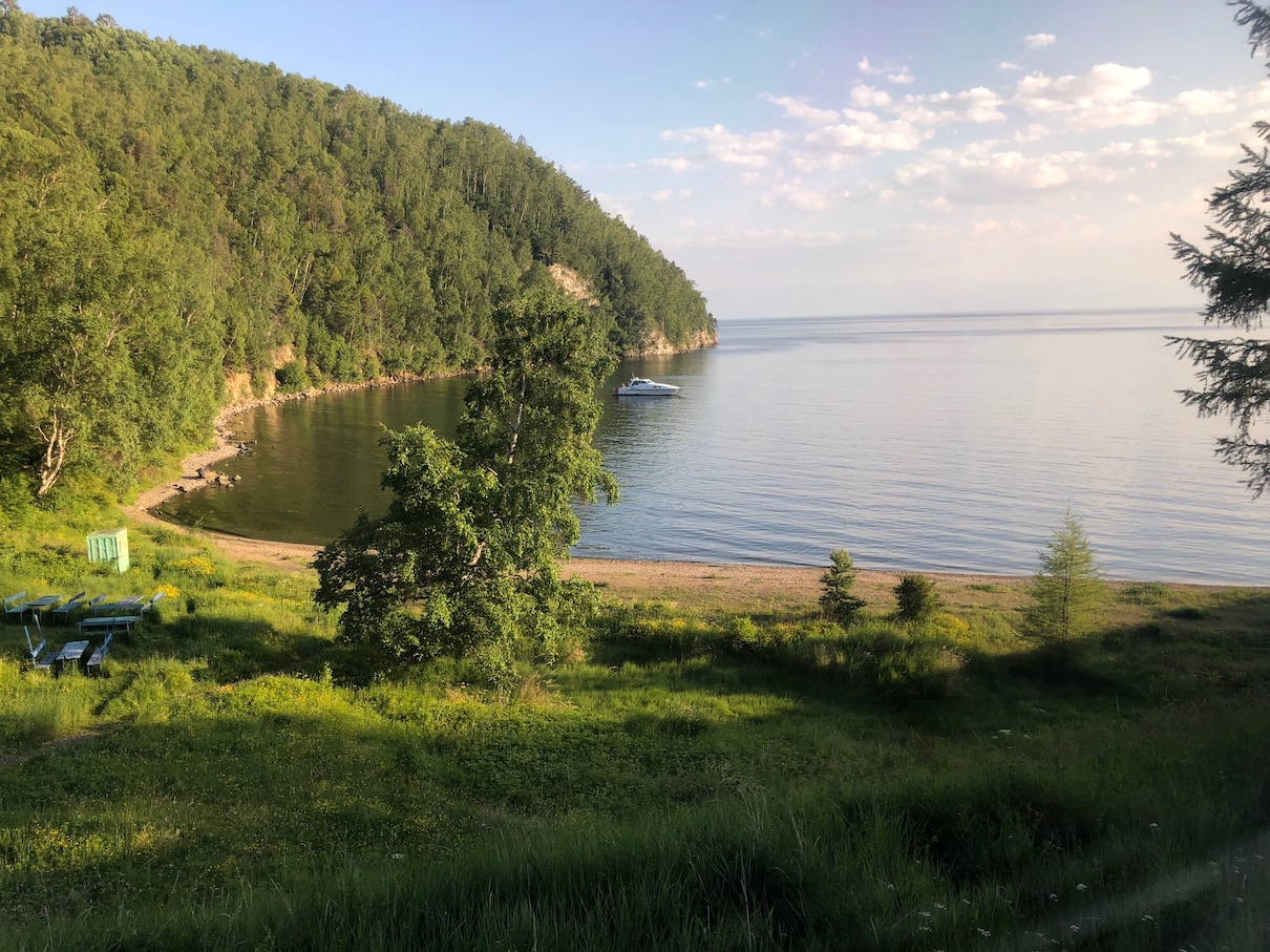 Village along Lake Baikal.