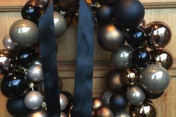 Julekrans av julekuler