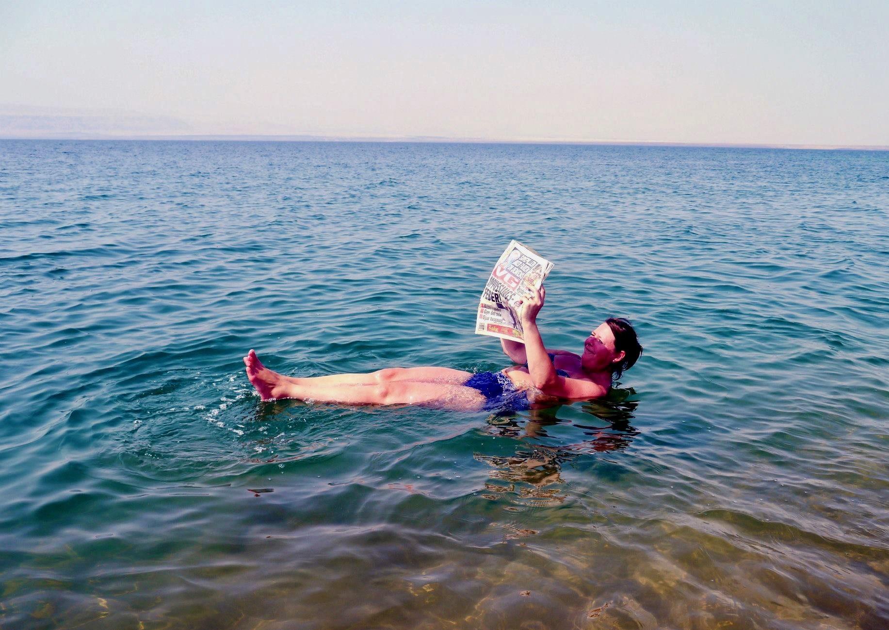 helsegevinst ved å bade i Dødehavet