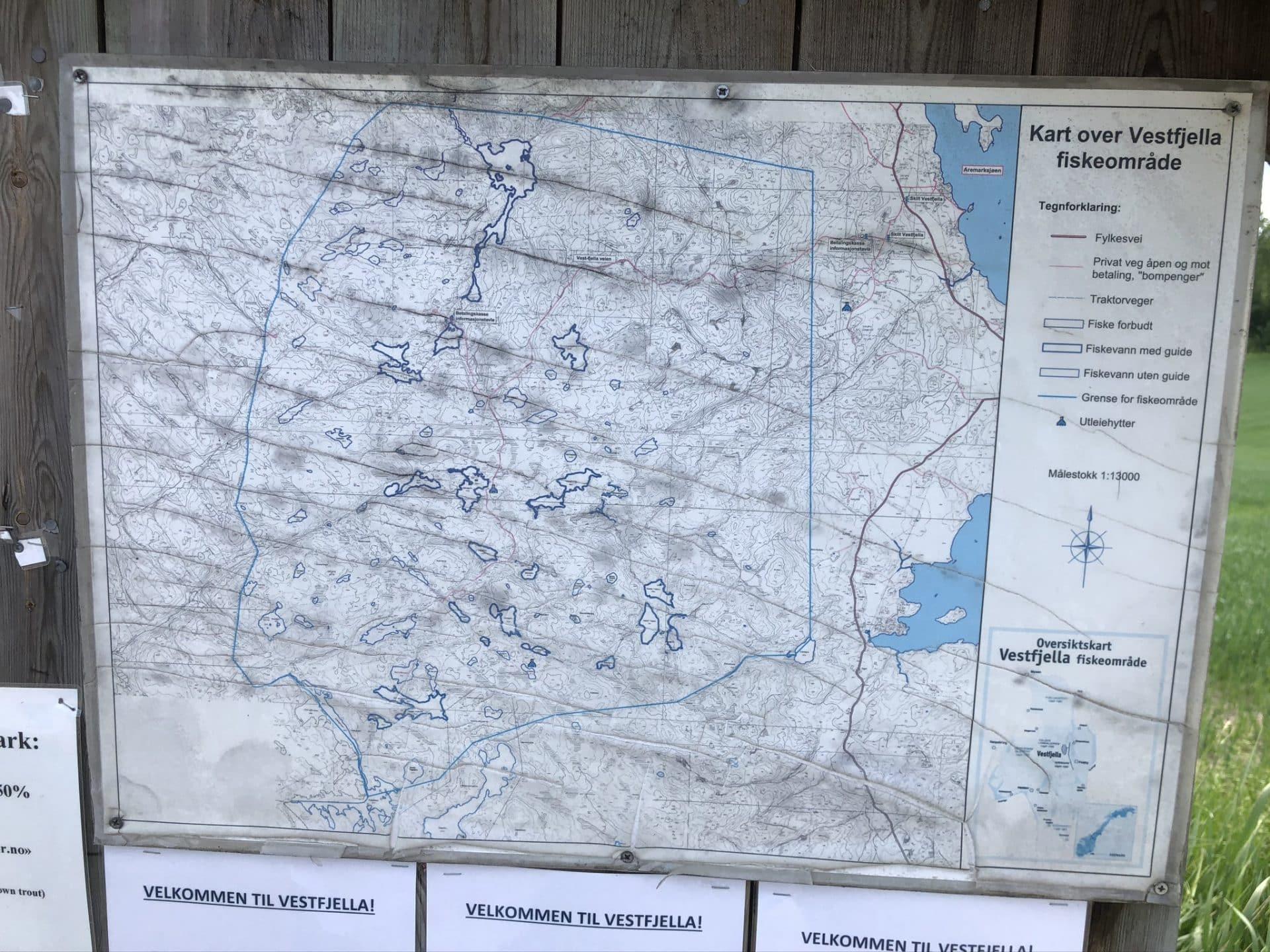 Vestfjella fiskeområde, kart