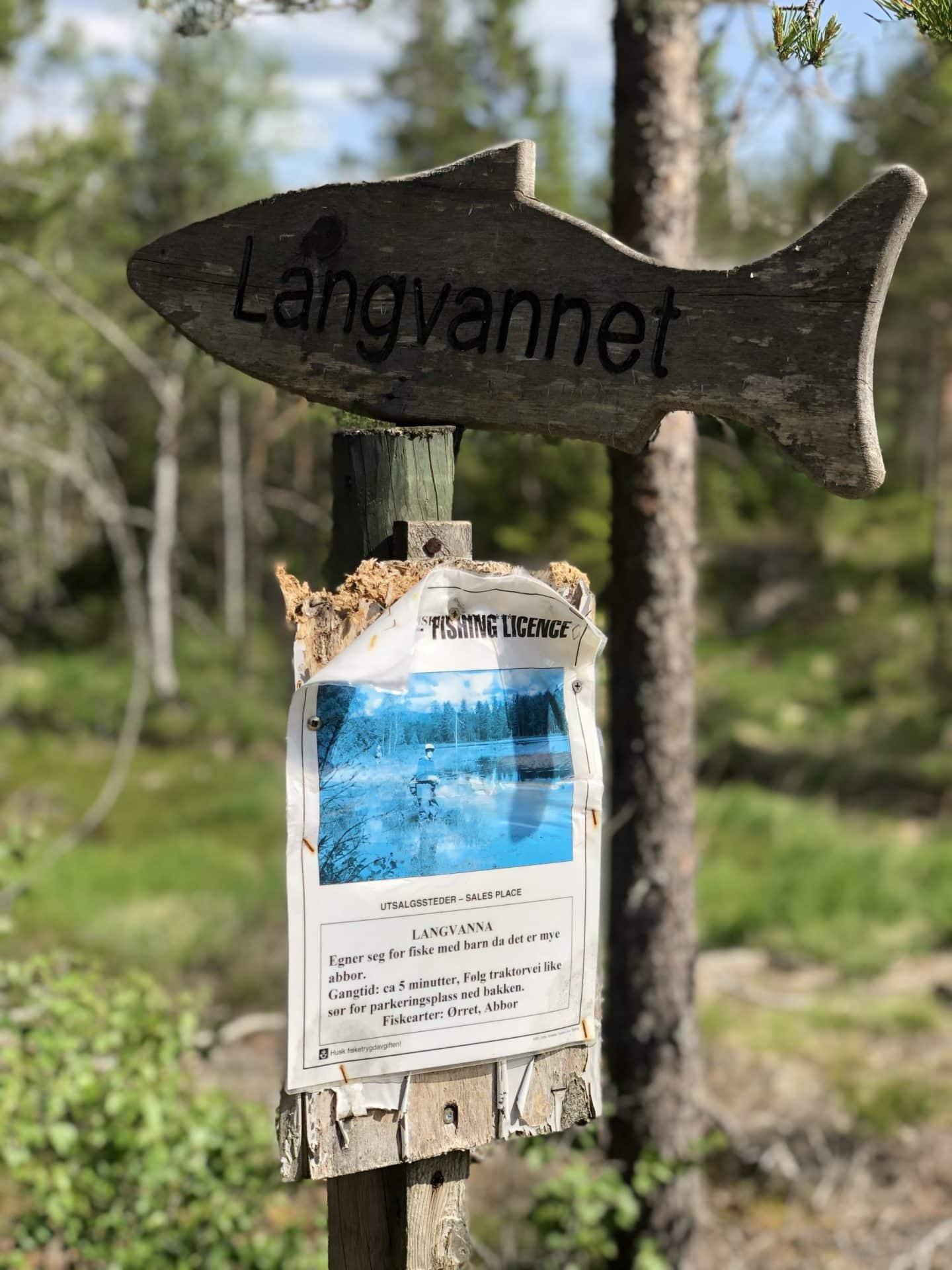 Langvannet, Vestfjella