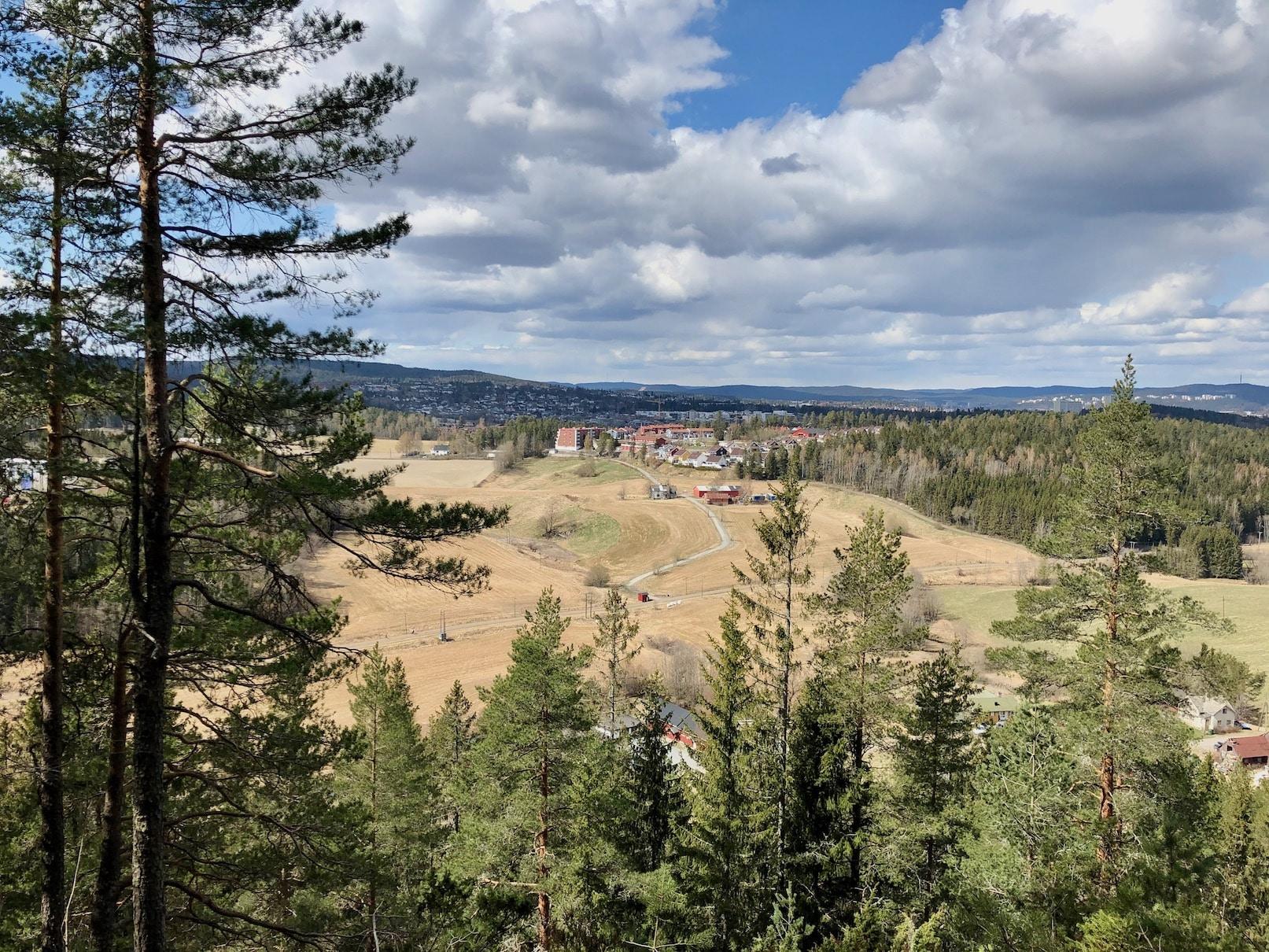 Utsikt fra Kirkerudkollen