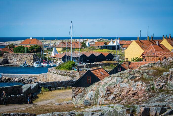 Udsigt over Hollænder Vig på Christiansø