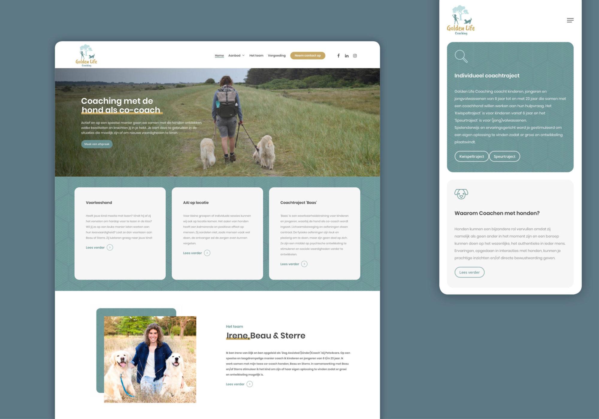 Huisstijl nieuwe website ontwerp Golden Life coaching Groningen
