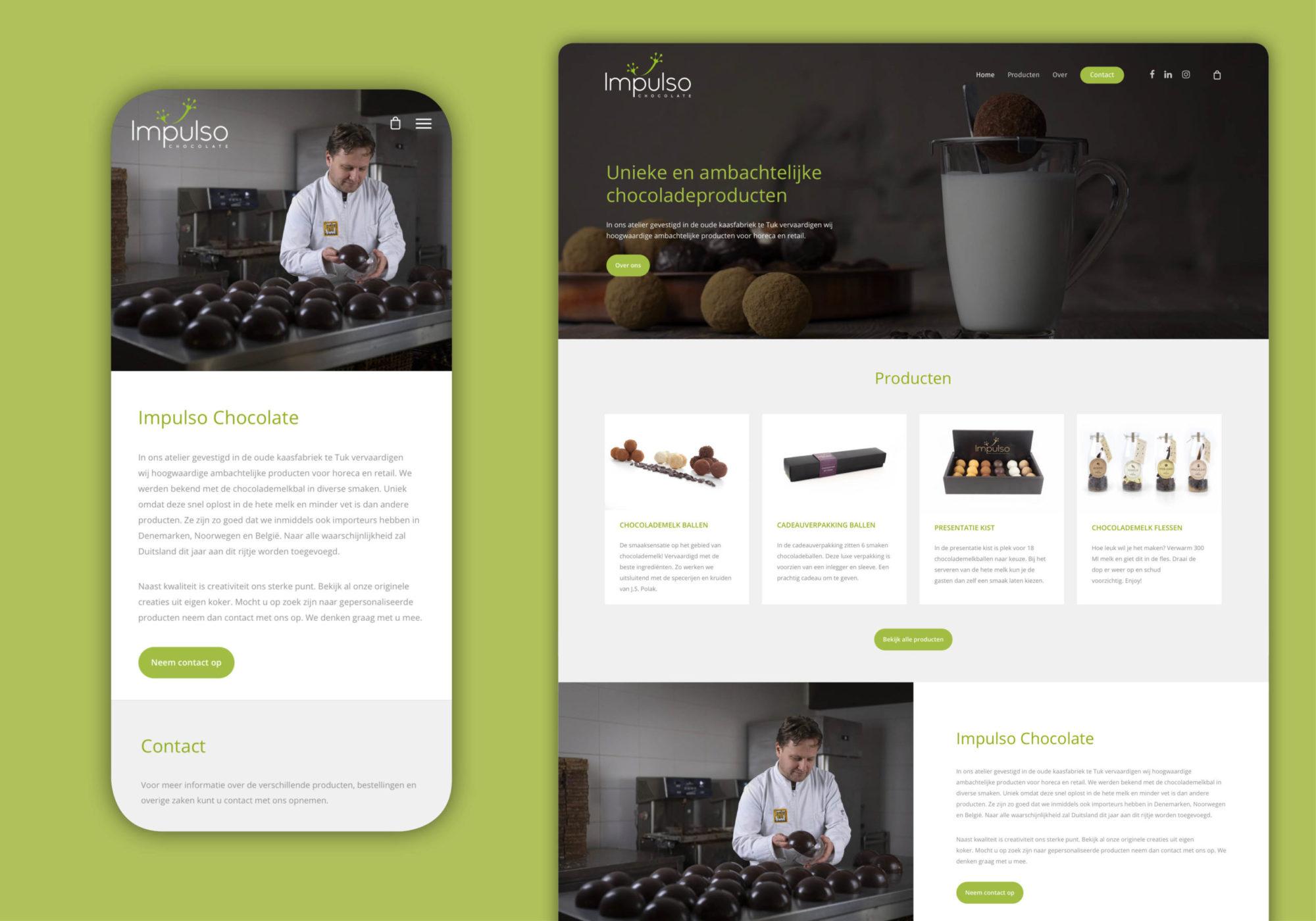 Website ontwerp Impulso Chocolate