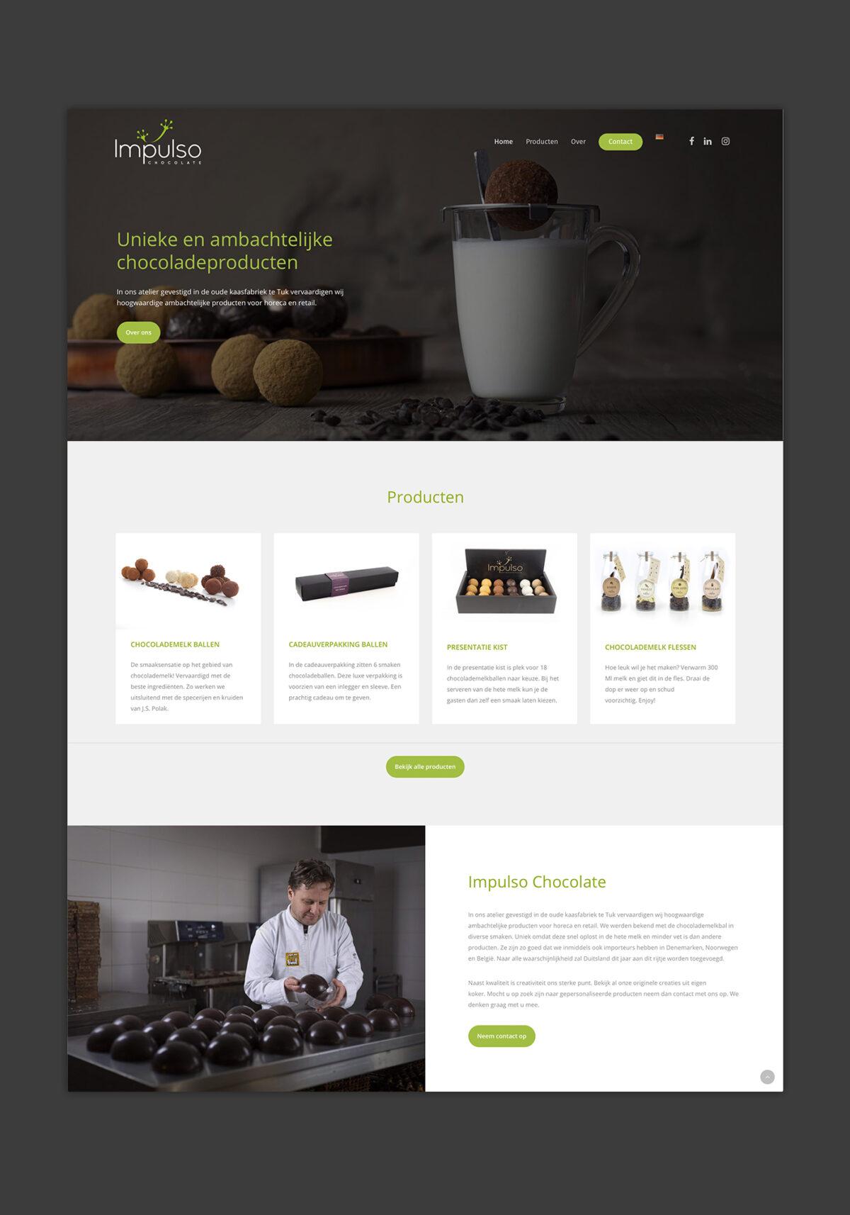 Webdesign + Fotografie Impulso Chocolate