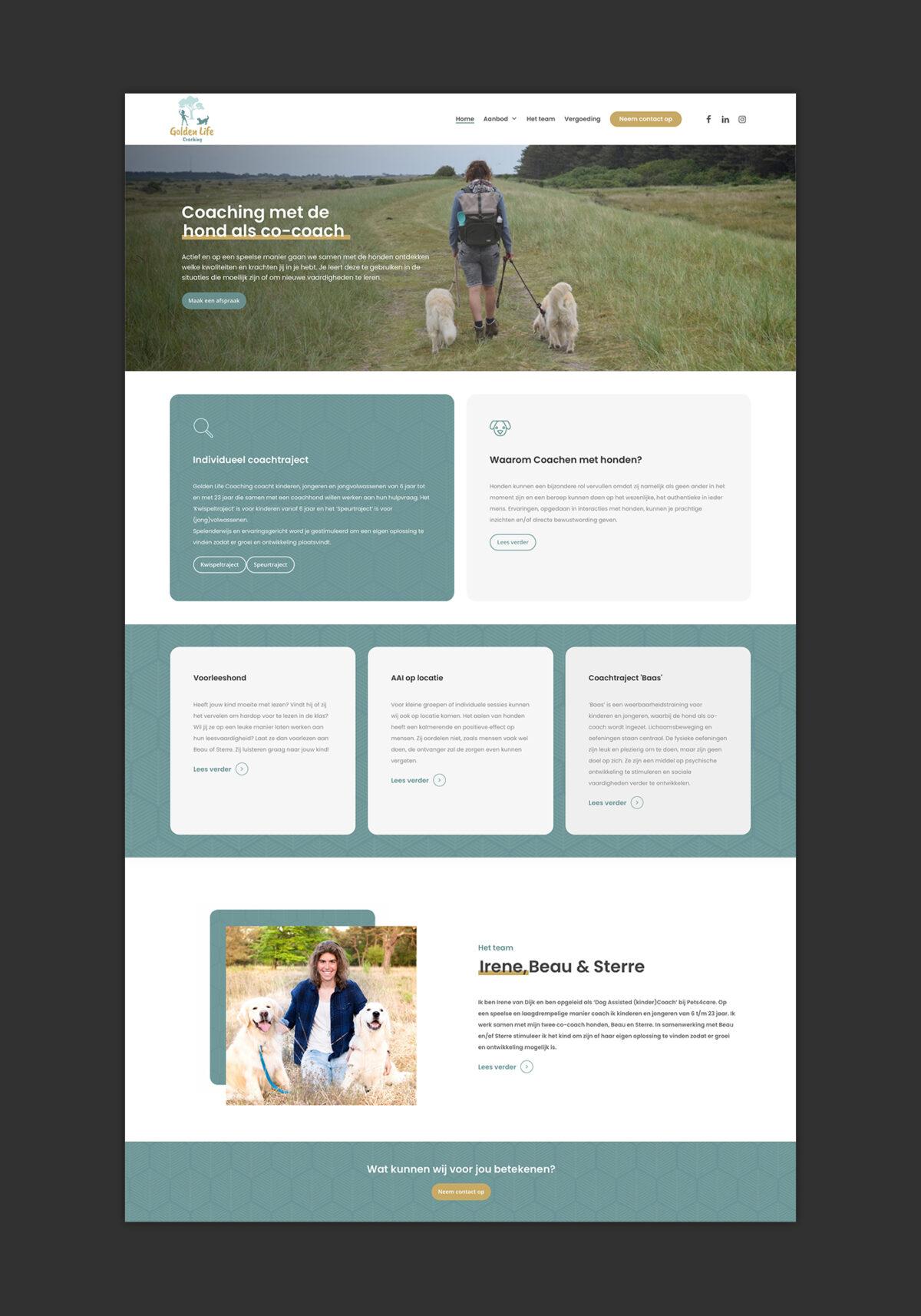 Huisstijl, webdesign Golden Life Coaching