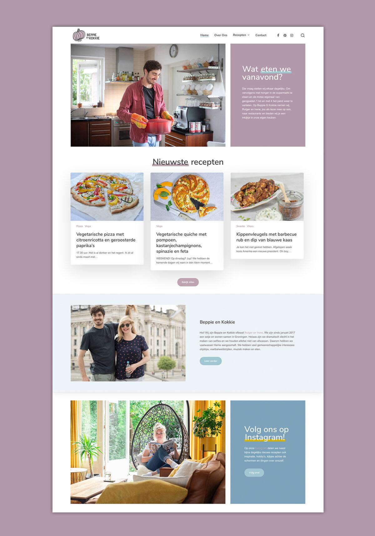 Huisstijl, webdesign, fotografie Beppie en Kokkie