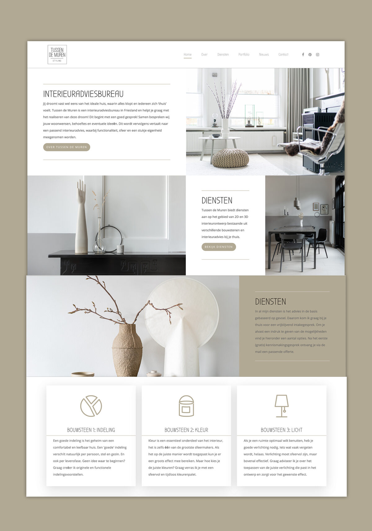 Webdesign Tussen de Muren