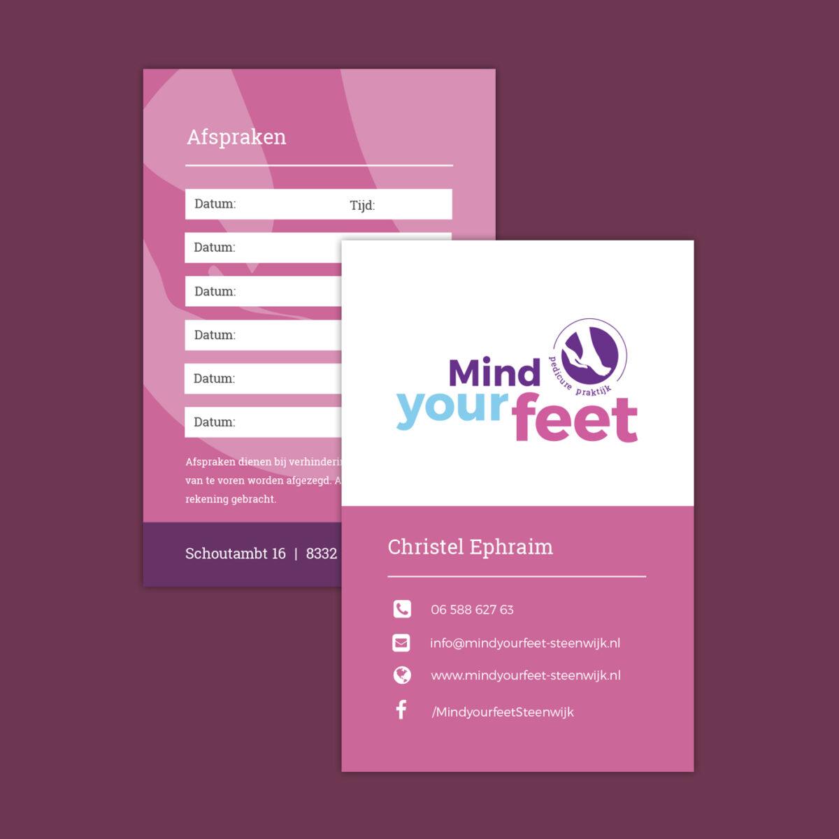Huisstijl Mind your feet
