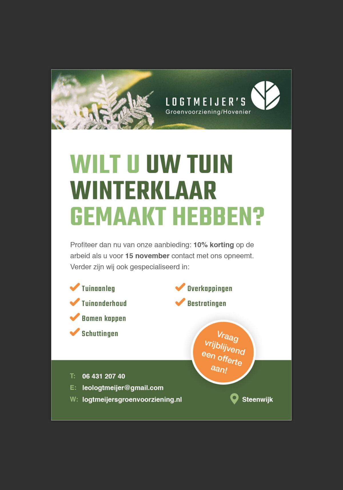 Advertentie Logtmeijers groenvoorziening