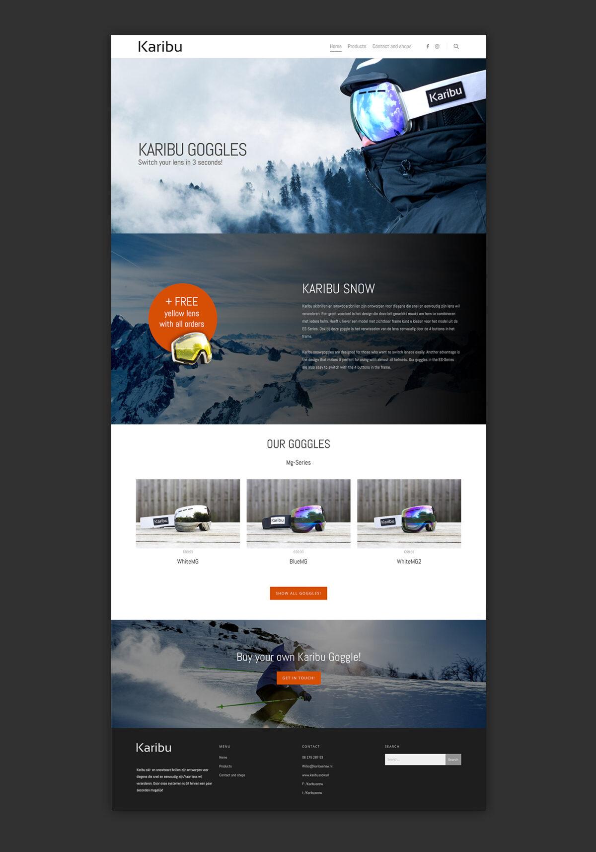 Webdesign Karibu Snow