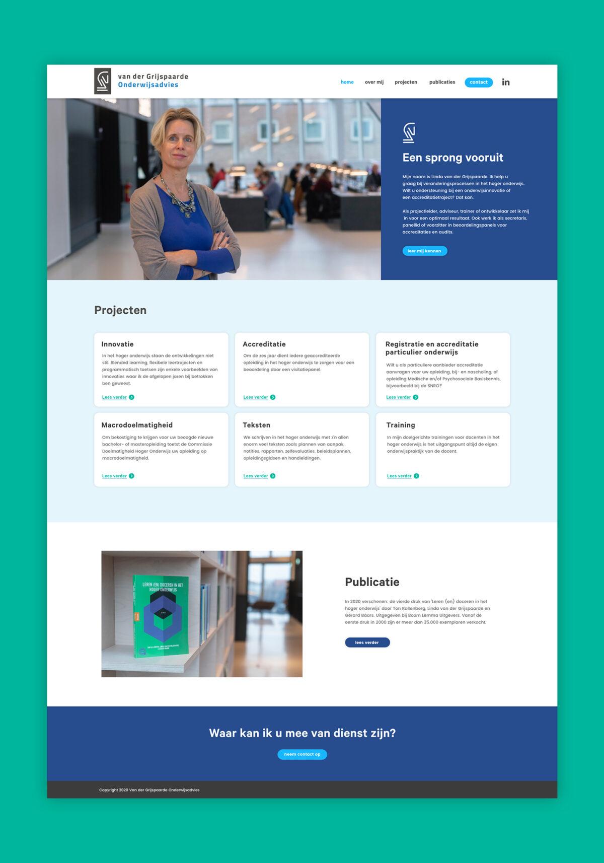 Webdesign Van der Grijspaarde