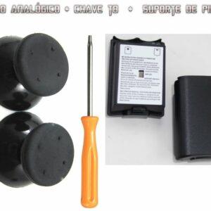 Kit Controle Xbox 360 Tampa De Bateria 3 Itens Reparo T8torx