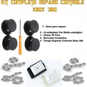 Kit Controle Xbox 360 Tampa De Bateria 7 Itens Reparo T8torx