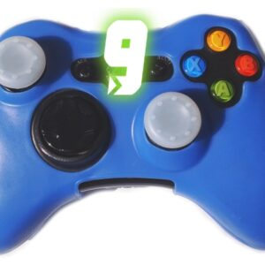 Capa Case Silicone Controle Xbox 360 Capinha Protetora Azul