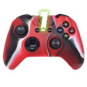 Capa Case Silicone Controle Xbox Camuflada Vermelha