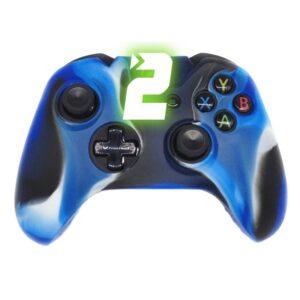 Capa Case Silicone Controle Xbox Camuflada Azul