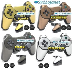 Adesivo Skin Decal Vinil Controle Ps3 Playstation 3 Metal + Grip
