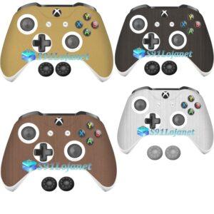 Adesivo Skin Case Metal Xbox One S Controle Original + Grips