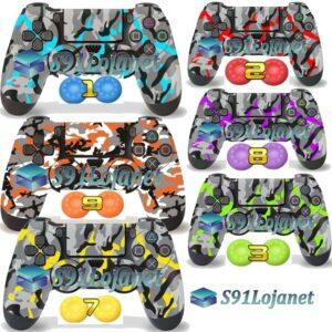 Adesivo Skin Ps4 Camuflado Controle Playstation 4 + Par Grip