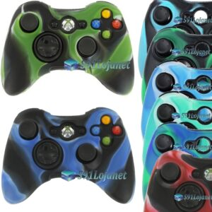 Capa Case Skin Silicone Xbox 360 Camuflado Coloridas