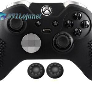 Capa Case Skin Xbox One Controle Elite Cor Preto + Grip Cor