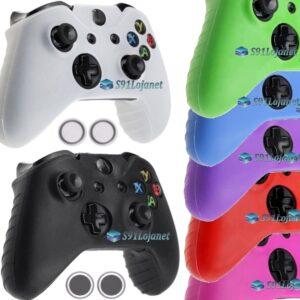Capa Case Skin Xbox One S Microsoft Coloridas + Grip Bola