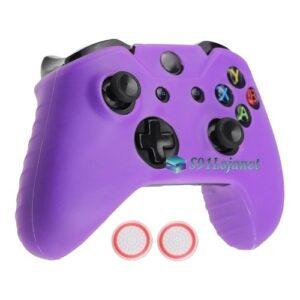 Capa Case Skin Xbox One S Microsoft Roxo + Grip Bola